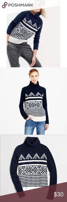 Sold J.Crew Fair Isle crewneck sweater
