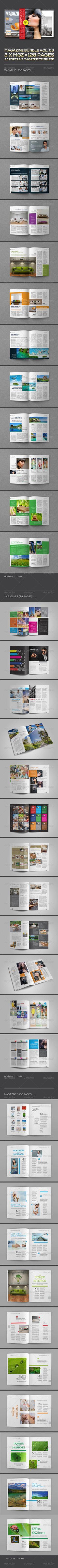 3 X Magazine Collection (Mgz Bundle Vol. 06) #a5 #a5 landscape #booklet #booklet A5 #booklet bundle