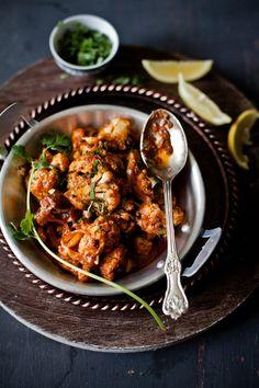 Achari Gobi (Cauliflower in Pickled Sauce) | Sunshine and Smile