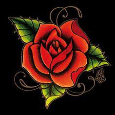 Azulejo Tattoo Rosa, Pavão Revestimentos, Azulejo Vermelho, Tile, Decor Tile, red decor, tattoo rose