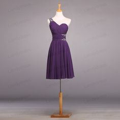 Bridesmaid Dress Short Bridesmaid Dress Purple by LandyDress, $115.00