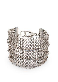 TOUCH - Crystals mesh bracelet MANGO
