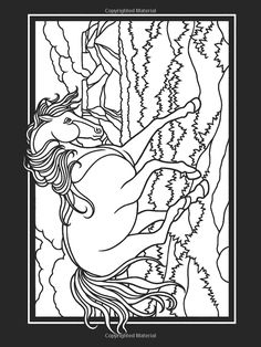 Horse Coloring Page From Book Horses Dover Publications