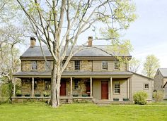 farmhouse exterior by Fredendall Building Company...Why did someone stick ugly siding on this lovely stonework farmhouse????