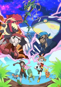 This is my tribute pokemon omega ruby and alpha saphire! ç__ç Realized with Paint tool sai pokemon omega ruby and alpha saphire Pokemon Rpg, Pokemon Funny, Pokemon Fan Art, Cool Pokemon, Pokemon Alpha Saphire, Pokemon Omega Ruby, Pokemon Images, Pokemon Pictures, Dragon Manga