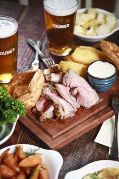 Sunday Roast with all the trimmings-youngs.co.uk
