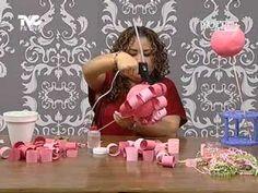 Cómo hacer un topiario de papel para decorar http://ini.es/1D3fKon #Decoración, #DIY, #IdeasParaDecorar, #Manualidades