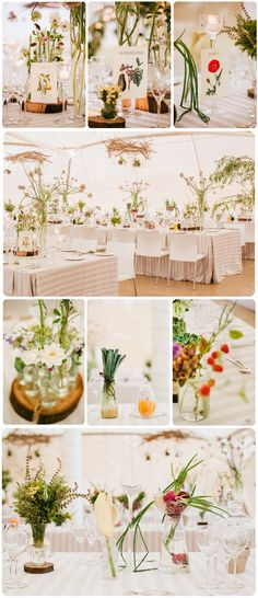 Botanical-themed wedding LOVE this-- onions would be easy to sprout for center pieces too!