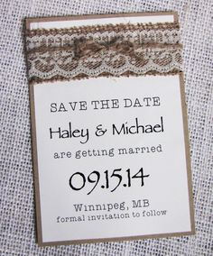 Rustic Save the Date Card Save the Date Wedding by LoveofCreating