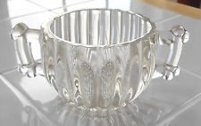 Vintage JEANNETTE Glass Sugar Bowl Heavy Pressed Glass