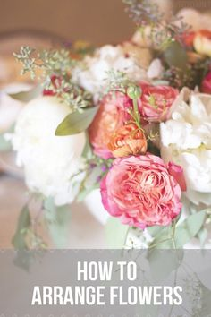Easy tips for arranging flowers for a centerpiece! - The Inspired Room and @michaelanoelle