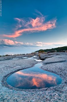 """""""Mirror mirror on the shore, which cloud is the fairest of them all?"""" by Rob Orthen"""