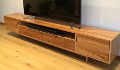 Delivered today - this 3 metre long Silvertop Ash entertainment unit with soft close drawers and tapered legs #aulddesign #entertainmentunit #interiors #furniture #customfurniture