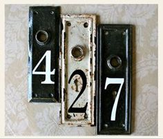 Wall House Number Made Of Metal With The Theme Black & White Design