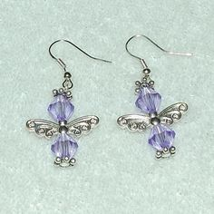 PURPLE Angel Earrings - Gayle Dawn Boutique
