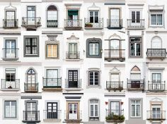 montemor-o-novo, portugal: andre goncalves' 'windows of the world' and 'doors of the world' series highlight the culture and community of a place through architectural photography. Balcon Juliette, Classic House Design, Design Exterior, Grill Design, Window Design, Vintage Home Decor, Furniture Vintage, Windows And Doors, Home Improvement