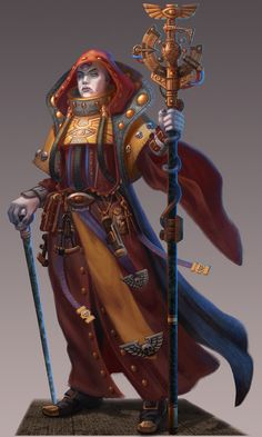 """A """"House Belisarius"""" Navigator from the new Warhammer Relic """"Halls of Terra"""" Expansion set from Fantasy Flight Games. Warhammer 40k Rpg, Warhammer Fantasy, Battlefleet Gothic, Rogue Traders, Character Art, Character Design, Sci Fi Characters, The Grim, Space Marine"""