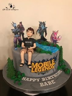 Fete Vincent, Anime Cake, Cake For Husband, Diamond Party, Character Cakes, Mobile Legends, Cakes For Boys, Homemade Cakes, Cute Cakes