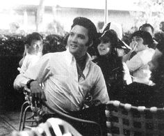 Candid photo of Elvis and Priscilla at the USS Arizona War Memorial Pearl Harbour, Hawaii, May 27, 1968.