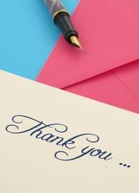 Write a Thank You Note