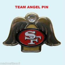 """SAN FRANCISCO 49ers ANGEL ON MY SHOULDER PIN NFL NEW GIFT 1 1/4"""" X 1"""""""