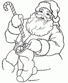 I love these coloring pages of Santa - there are 4 here for you to click on and then print. The grab your crayons and color them in. Maybe p...