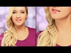 Braided hairstyle for everyday Cute and easy side swept ponytail with knotted decorations and curls