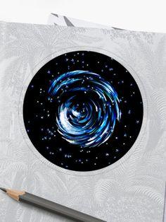 'Lost In The Milky Way' Sticker by Roanemermaid Decorative Stickers, Sparkling Stars, Dark Night, Milky Way, Laptop Stickers, Sticker Design, Lost, Symbols, Pattern