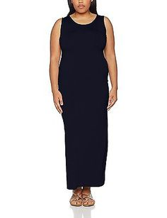 18, Blue (Navy), New Look Curves Women's Jersey Maxi Dress NEW