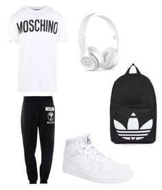 """""""Untitled #4"""" by benjaminmusic20 ❤ liked on Polyvore featuring Moschino, NIKE, Topshop, Beats by Dr. Dre, men's fashion and menswear"""
