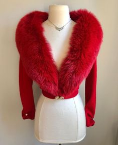 "Miss V on Instagram: ""( sold - Thank You! 🤗💋🌹) SPECTACULAR!! Tres Chic!! Rare Luxurious Lipstick Red vintage 1950's Dalton cashmere cardigan The ultimate in…"" Cashmere Cardigan, Vintage Sweaters, Red Lipsticks, Fur Coat, Turtle Neck, Luxury, Chic, Jackets, Outfits"