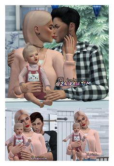 Family ❤ This pose pack including 3 poses. Sorry for this long break, now I'm back with so many new poses! Toddler Poses, Baby Poses, Newborn Poses, Sims 4 Body Mods, Sims Mods, My Sims, Sims Cc, Sims 4 Couple Poses, Sims 4 Family
