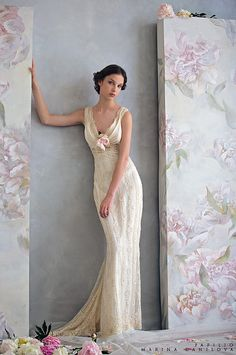 wedding dresses ivory -vintage looking by ...love Maegan, via Flickr