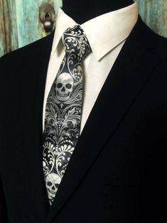 Skull Necktie Skull Tie Please read item description.. | Etsy