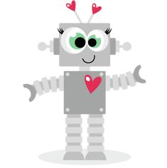 Love Robot scrapbook titles SVG cutting files robot cut files for scrapbooking…