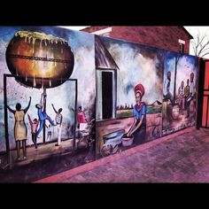 Street art of Soweto, South Africa. AFAR Highlight by Joe Diaz. Street Art Love, Best Street Art, Graffiti Murals, Street Art Graffiti, Wall Murals, South Afrika, Africa People, Contemporary African Art, Out Of Africa