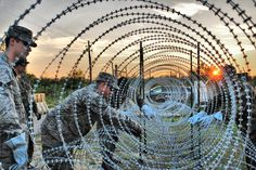 """""""Let me get this straight....they're going to lay down hundreds of miles of Concertina razor wire 'just practicing' to detain people..Yeah, sure.."""" read more... June 3 2015 All News Pipeline"""
