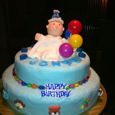 Birthday/christening cake for 1 year old boy