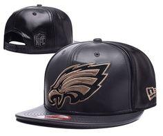 Philadelphia Eagles Black Metallic Gold Snapback Hats Leather b8d5e615a