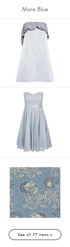 """""""More Blue"""" by miss-amazing-grace ❤ liked on Polyvore featuring dresses, mini dresses, short dresses, mini dress, ruffle dress, gingham mini dress, ruffle mini dress, plus size women's fashion, plus size clothing and plus size dresses"""