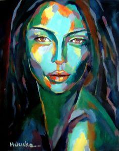 "Saatchi Online Artist: Helena Wierzbicki; Acrylic 2013 Painting """"Cunning"""""