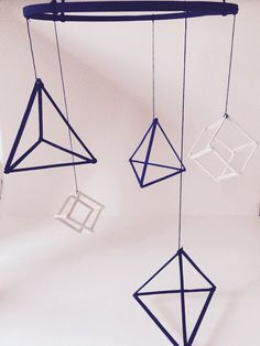 Geometric Mobile Hipster Mobile Nursery Mobile by tolittlearrows