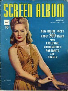 Movie Magazines 1950s | JUNE 1942 SCREEN ALBUM MAGAZINE BETTY GRABLE. ON COVER