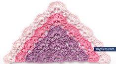 MyPicot | Free crochet patterns triangular shawl