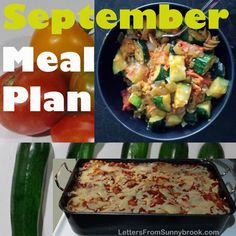 Back to school is a busy time for many families. But that doesn't mean giving up the homemade meals. The September Meal Plan features easy family favorites.