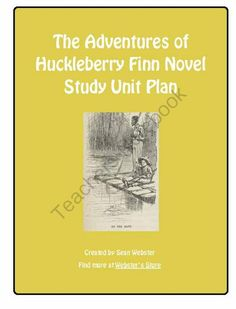 """The Adventures of Huckleberry Finn"" by Mark Twain - Novel Study Unit Plan from SWebster Classroom Resources on TeachersNotebook.com -  (73 pages)  - Welcome!  This is a comprehensive unit plan for Mark Twain's ""The Adventures of Huckleberry Finn"". It has been designed to cover 20 classes of approximately 80 minutes each. This unit plan contains everything that a teacher would need to te"