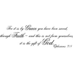 Design on Style 'For it is by Grace you have been saved' Art Quote