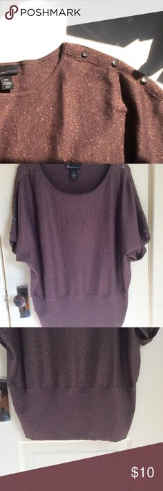 Lane Bryant 18/20 top Brown sweater with metallic thread throughout which gives a little shimmer. Great condition, no snags or stains. Lane Bryant Tops