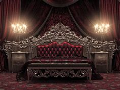» Royal Gold Bedroom Set Carved With King Size BedTop and Best Italian Classic Furniture