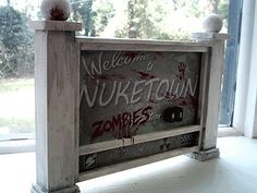 call of duty black ops 2 nuketown zombie sign handmade replica